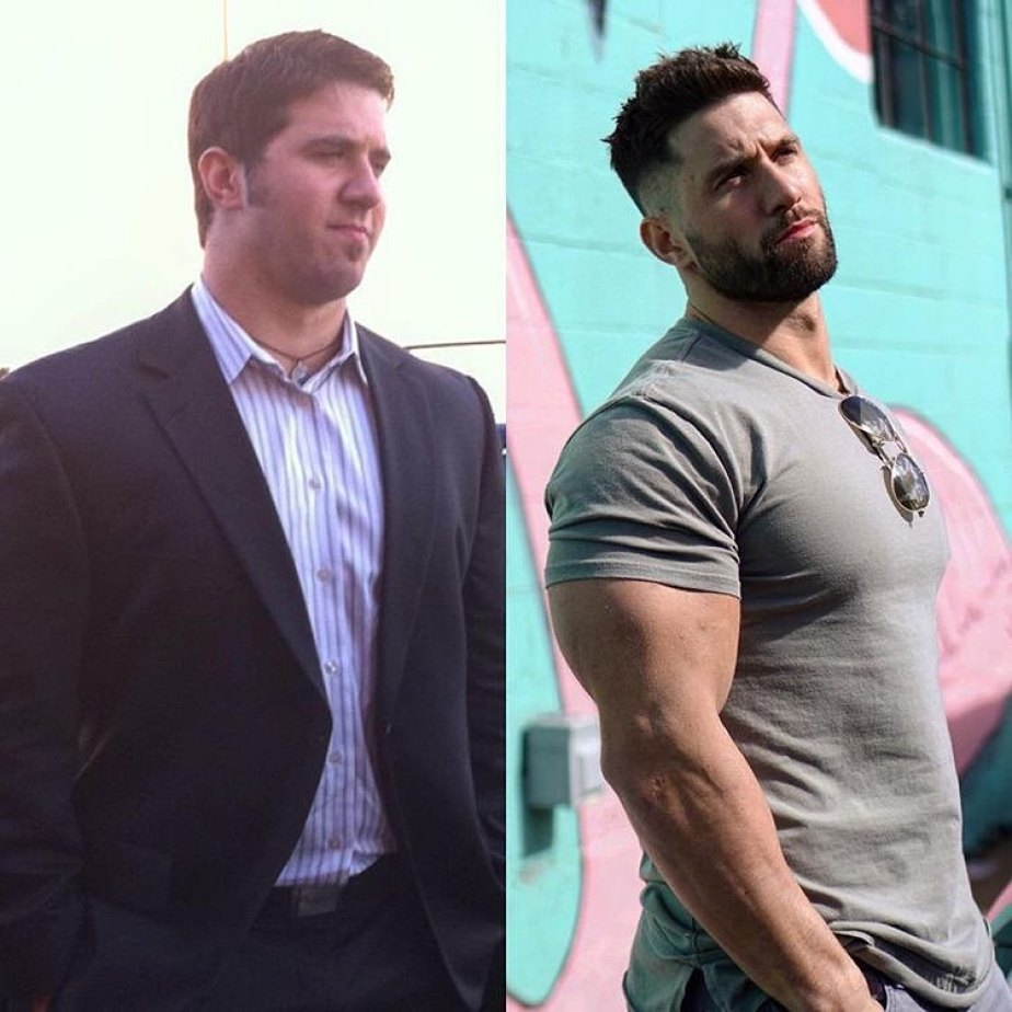 Julian Smith 6 Year Bulk Phase Before And After Transformation Fat Loss Picture