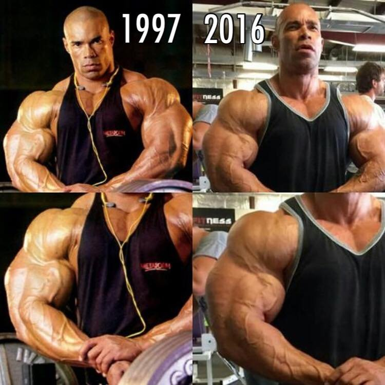 Kevin Levrone 1997 Vs 2016 Physique