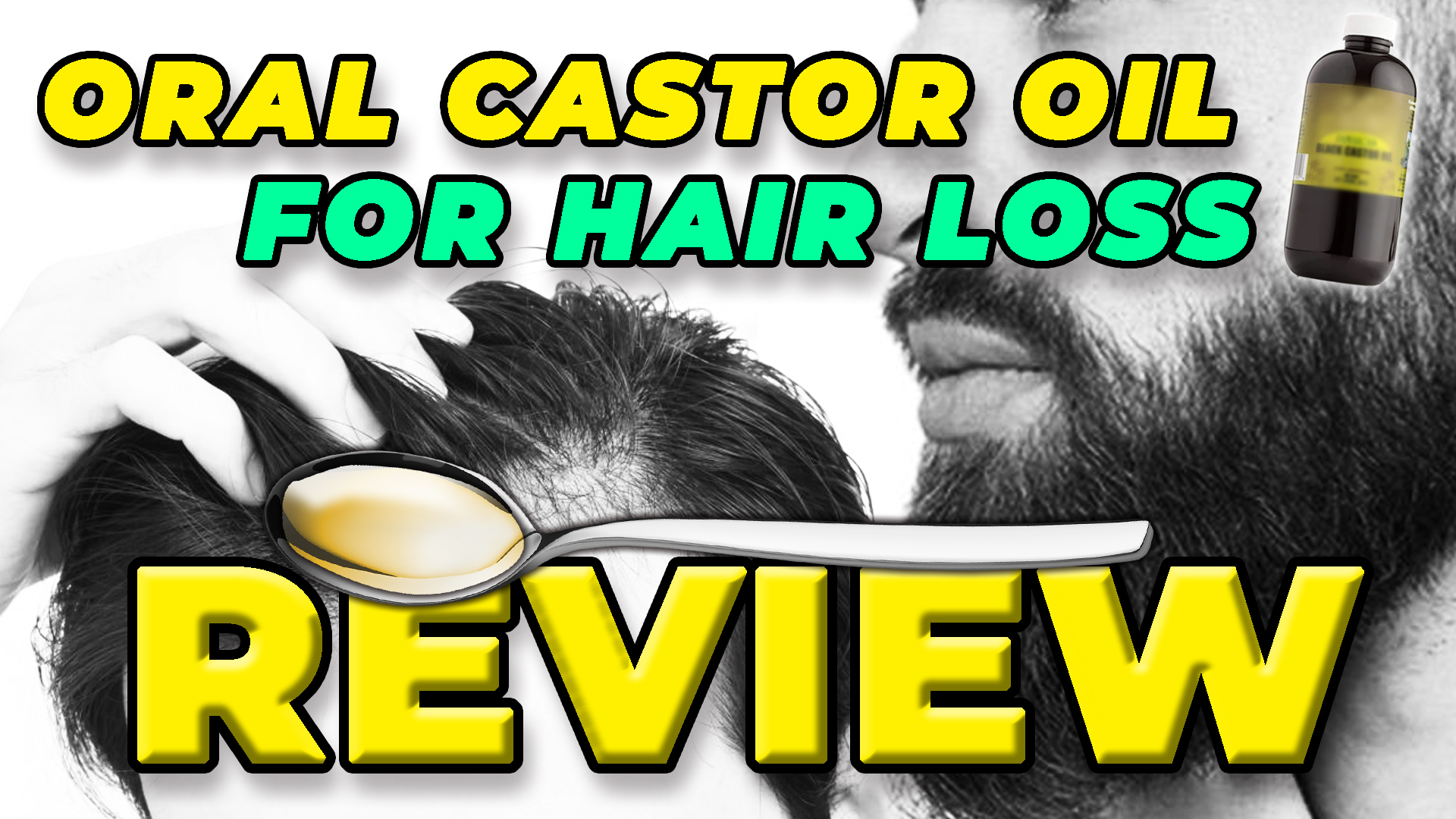 Man applies castor oil to his head and gives review on how effective oral castor oil for hair loss is