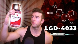Derek from MorePlatesMoreDates.com holding injectable LGD-4033 for his injectable SARMs review