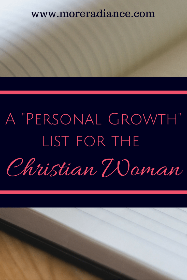 A Personal Growth List for the Christian Woman