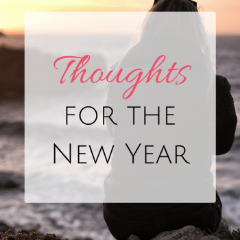 Thoughts for the New Year (2017)