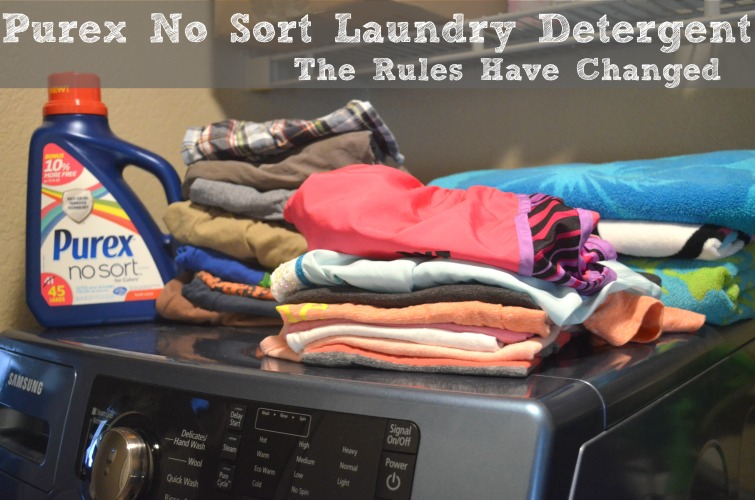 Stop Sorting Laundry with Purex No Sort #LaundrySimplified