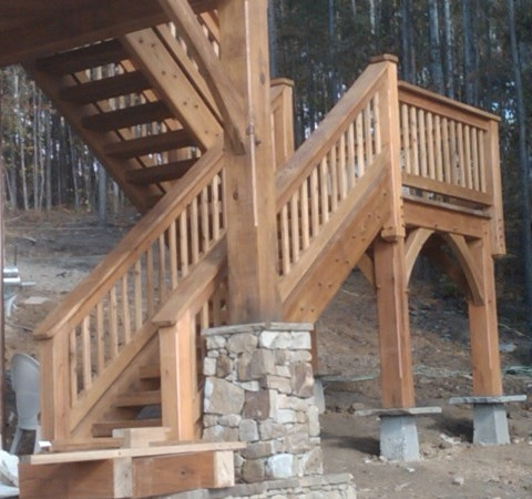 Timber Stairs Handrails Interior And Exterior Custom Built By | Wooden Handrails For Outdoor Steps | Wall Mounted Wooden | Porch | Outdoor Garden Path | Outdoor Decking | Small
