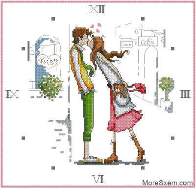 """Часы """"Поцелуй"""""""
