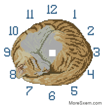 """Часы """"Спящий кот"""""""