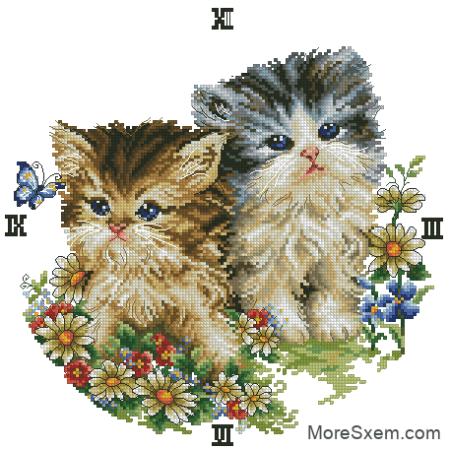 часы романтические котята