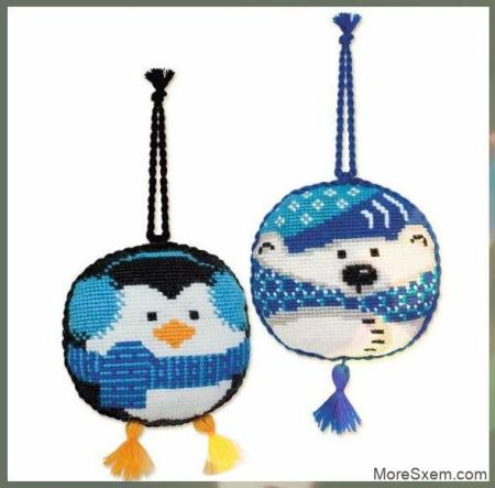 Пингвин и мишка