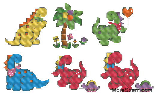 Динозаврики и пальма