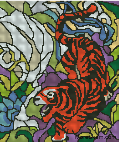 Витраж Тигр