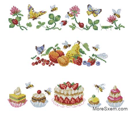 Бордюр с десертами