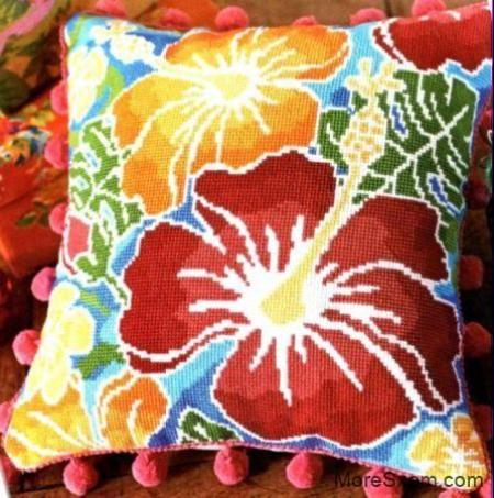 Тропическая подушка