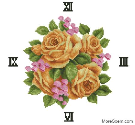 "Часы ""Желтые розы"""