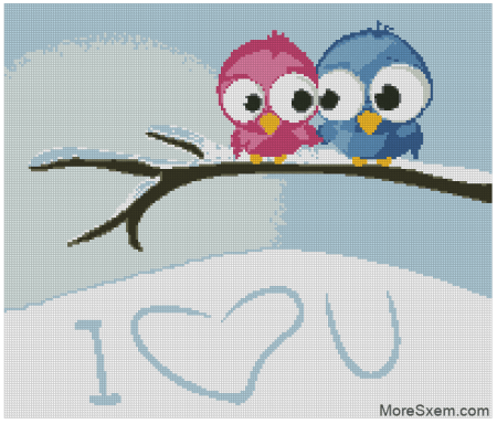 Две птички щебечут о любви