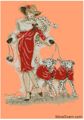 Дама с собачками (Далматинцы)