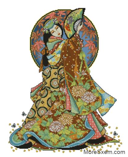 Гейша с веером