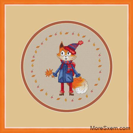 Осенний лис