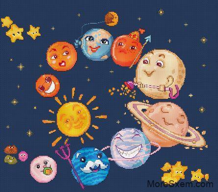 Подушка Парад планет