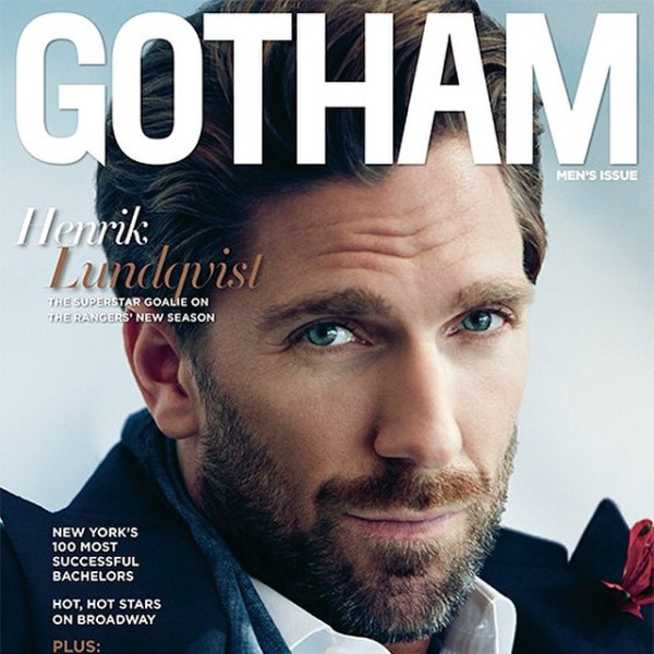 STYLE: NHL Henrik Lundqvist Covers Gotham Magazine, Talks Fashion, Stanley Cup Finals, And More