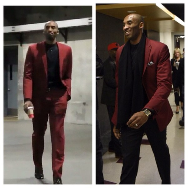 STYLE: NBA Kobe Bryant Shows Us How To Break Up A Suit