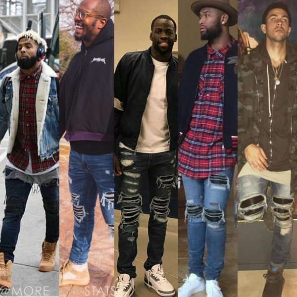 STYLE: Star Athletes Love Wearing Amiri Mens Fashion Jeans