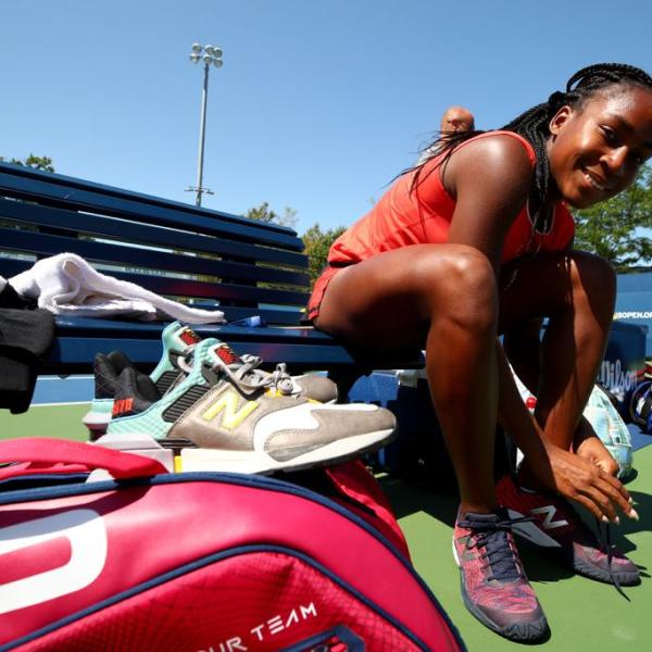 "Coco Gauff in New Balance x Bodega ""No Bad Days"" 997 Sport"