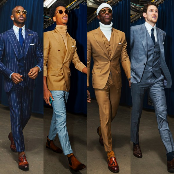 Chris Paul Gifts Custom Suits To His Whole Team