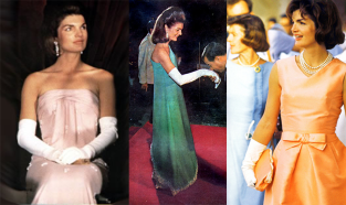 Images of Jacqueline Kennedy in Oscar de la Renta