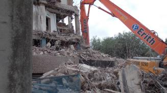 A building being destroyed
