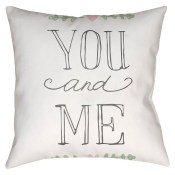 you and me pillow