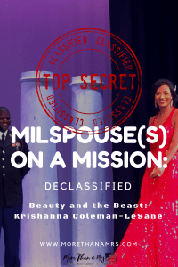Milspouse on a Mission: Beauty versus the Beast