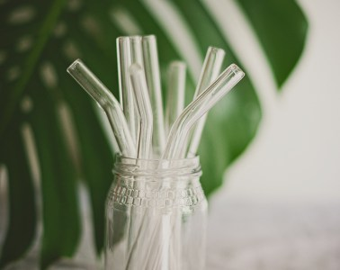 Go plastic free and use Stream Straws glass straws
