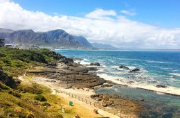Coastline in Hermanus South Africa