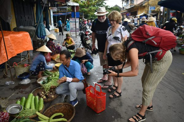 Duc at the local Hoi An market