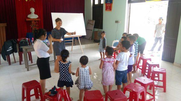 Caitlin teaching English in Vietnam
