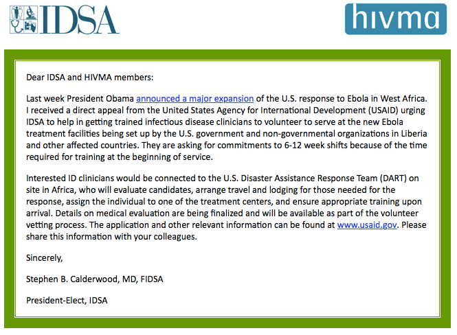 IDSA email