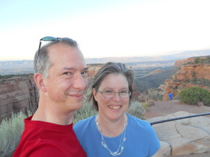 Molly and David on a recent trip to Colorado National Monument in Fruita, CO.