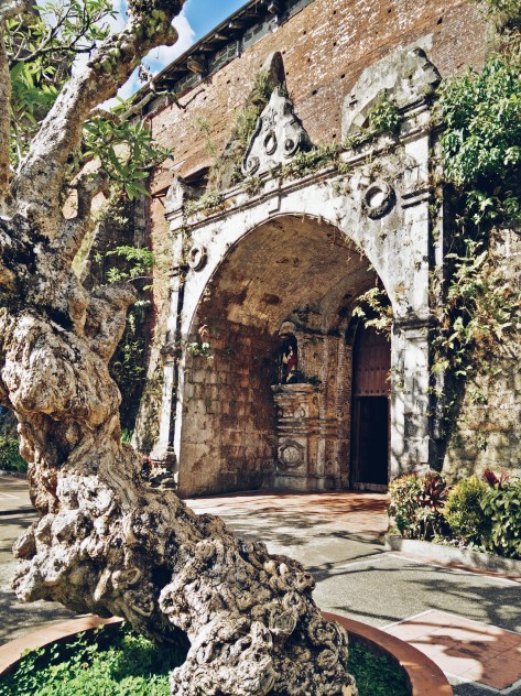 The entrance at the side of the Majayjay church looks like a doorway to some enchanted kingdom.