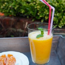 Lovely orange smoothie