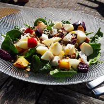 Salad with beetroot and sweet potato