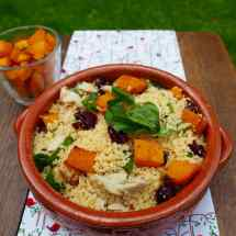 Couscous with buttenut squash and mackerel