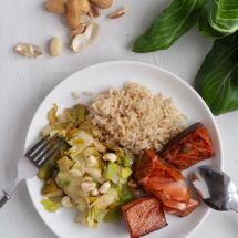Marinated salmon from More Than Just Carrots recipe for kids