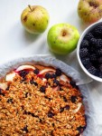 Apple and blackberry crumble by Severien Vits