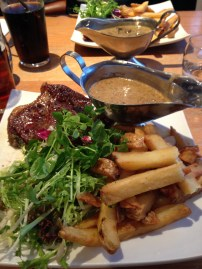 Rump Steak with Chunky Chips and Peppercorn Sauce - Driftwood Spars