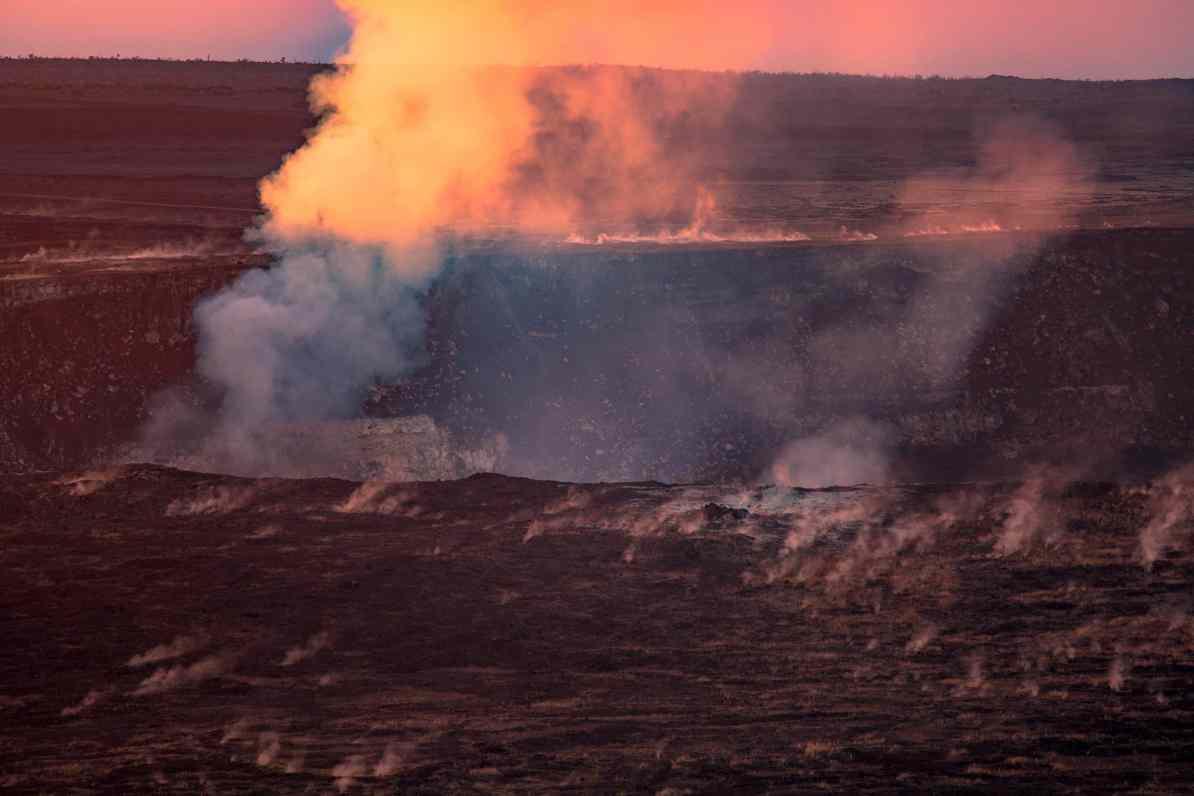 kilauea crater hawaii volcanoes national park