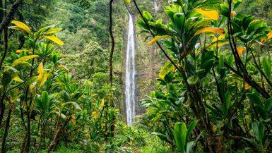 waimoku falls, haleakala national park waterfall maui, hawaii