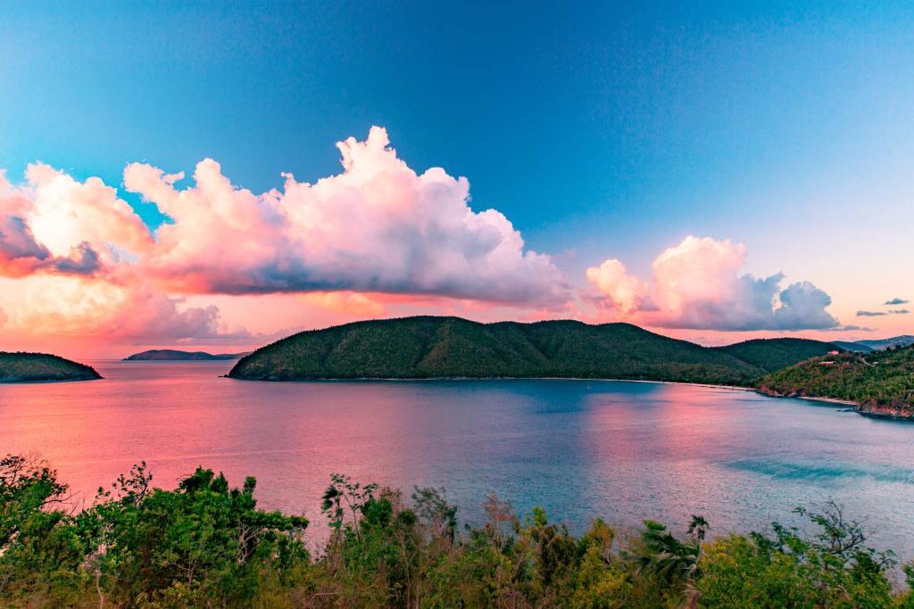 virgin islands national park sunset