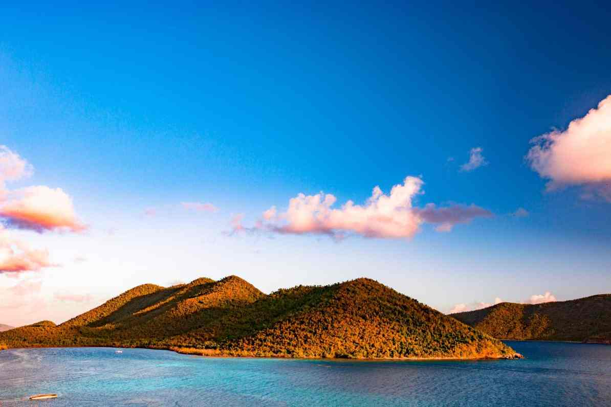 virgin islands national park sunrise waterlemon cay, leinster bay trail