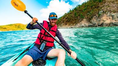 kayaking st john virgin islands national park maho bay