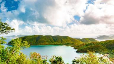 francis bay from america hill ruins virgin islands national park st john